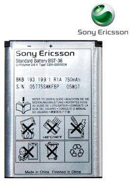 SONY ERICSSON OEM BST-36 BATTERY K510i (Sony Ericsson Cell Phone Cases)