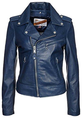 Napa Lambskin Women's Leather Bomber Biker Jacket XX-Large