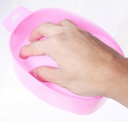 Professional Acetone Resistant Soak Off Warm Nail Spa Bowl Manicure Tool J0475-1 (Pink) by Beauticom