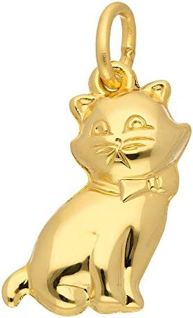 Kinder Gold Anhänger Katze 8 k 333 Gelbgold