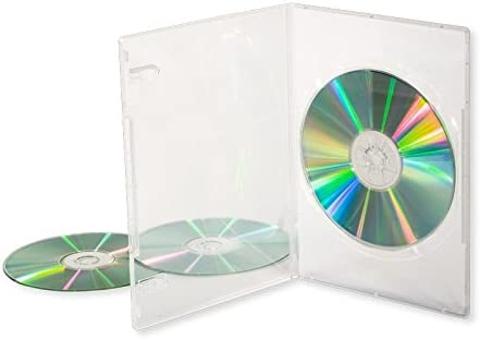 5 x CD/DVD/BLU RAY 14 mm transparente DVD caja individual para 1 Disc Dragon Trading®: Amazon.es: Electrónica