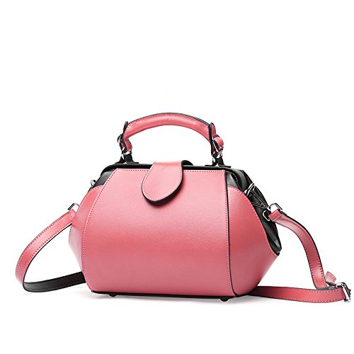 Bag Crossbody Designer Messenger for Package Shoulder Women Satchel Handbags Genuine Classic Leather Doctor Tote Pink B4qHqw
