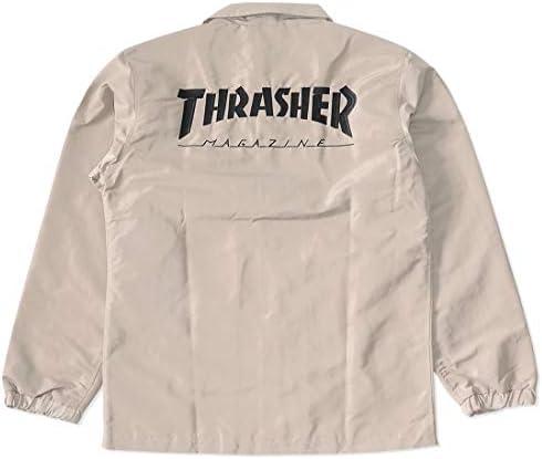 [アウトレット品] THRASHER スラッシャー コーチジャケット 左胸バックMAGロゴ刺繍 *(TH5150)