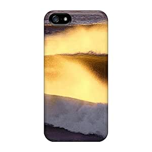 Defender Cases For Iphone 5/5s, Wave Of Gold Dust Pattern