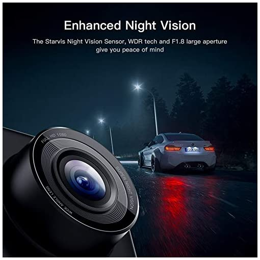 APEMAN Dual Lens Dash Cam for Cars Front and Rear with Night Vision and SD Card Included, 1080P FHD Mini Car Camera, 170… Amazon choices [tag]