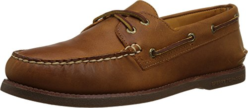 - SPERRY Mens Gold Cup Authentic Original 2-Eye Tan/Gum Boat Shoe - 10 W