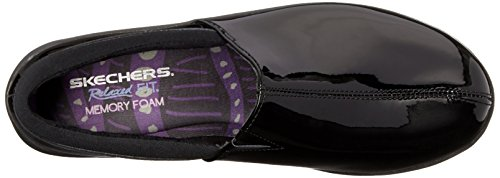 Skechers Singolare Leather Black Slip on Loafer Patent Savor ra5zxwqCr