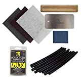 Demon United Ski and Snowboard Base Care Kit- Ski and Snowboard Base Repair Kit (Black P Tex 10 Pack)