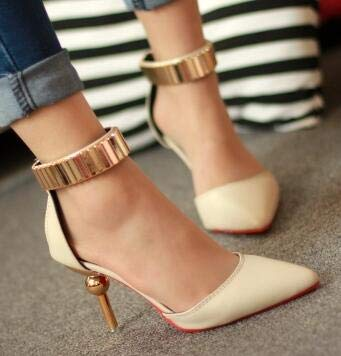 8c9b2d2dd6d1c2 Image Unavailable. Image not available for. Color  HuWang Woman Shoes High  Heels Women Pumps Stiletto Thin Heel Women s Nude Pointed Toe Wedding