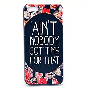 TY Flower and Nobody Get Time Pattern Hard Case for iPhone 5C