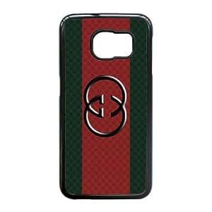 Samsung Galaxy S6 Edge Cell Phone Case Black GUCCI Logo AC8622942