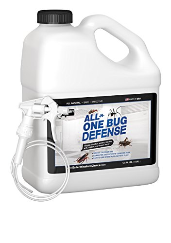 Exterminators Choice All-N-One Bug Defense Natural Spray|128oz Roaches|Ants|Silver Fish|Crickets|Spiders|Beetles|Fleas and Ticks|Insect Repellents and Insect Killer Spray.