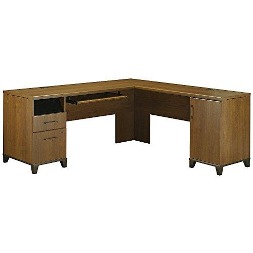 Bush Furniture Achieve L Shaped Desk in Warm Oak