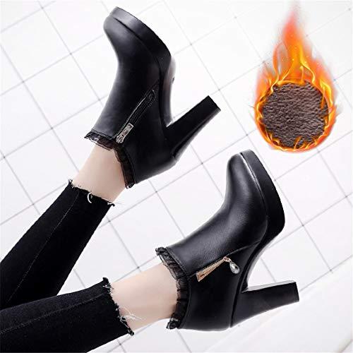 Profunda Para Moda De Zapatos Segundo Impermeable Heels Super Rough Gruesos Yan Boca Mujer High Encaje Plataforma qtaHn