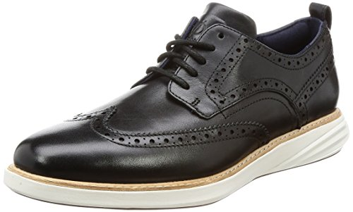 Cole Haan Men's Grand Evolution Shortwing Oxford, Black/Ivory, 8.5 Medium US