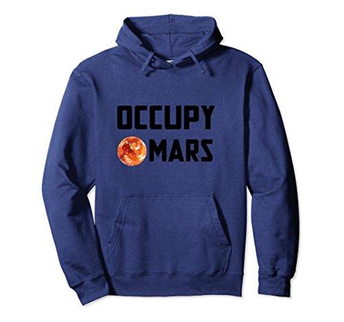 Unisex Mars Mission Planet Exploration Hoodie Medium Navy