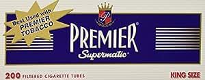 Premier king size full flavor cigarette tubes - 10 boxes (200 Tubes Each)
