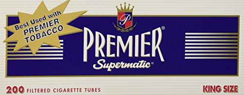 Premier king size full flavor cigarette tubes - 10 boxes (200 Tubes ()