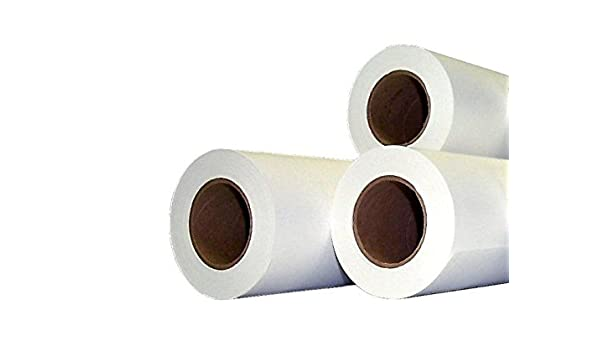 Rollos papel localizador: 80 grs 610 mm x 90 m – 3 RLX para plotter HP Canon CAD: Amazon.es: Oficina y papelería