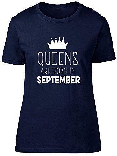 Shopagift - Camiseta - para mujer azul marino