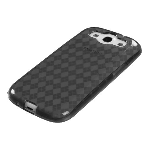(jdmobo Argyle TPU Gel Skin Case Protector Cover for Samsung Galaxy S3 SIII i9300 AT&T i747 T-Mobile T999 Sprint L710 Verizon i535 US Cellular R530 - Clear)