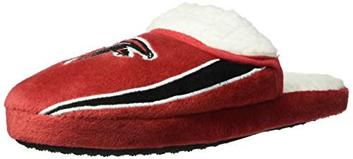 FOCO NFL Atlanta Falcons Mens Team Logo Sherpa Slippersteam Logo Sherpa Slippers, Team Color, Large (11-12)