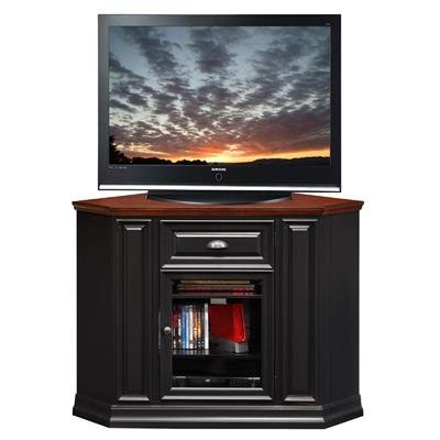 - Riley Holliday by Leick Black and Cherry Corner TV Console - 87232