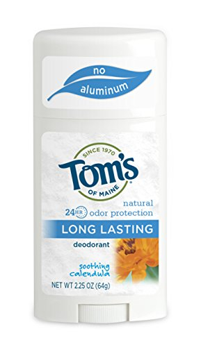Tom's of Maine Natural Deodorant Stick, Aluminum Free, Long Lasting, Soothing Calendula, 2.25 Ounce