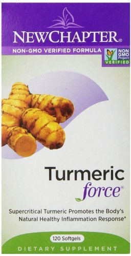 New Chapter Turmeric Force Softgels, 120 Count (Pack of 3)