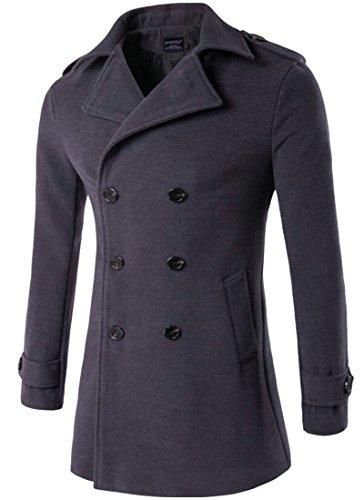 Men's Trench M Double 1 Coat Wool Lapel Slim Pea amp;W Breasted amp;S 7qqxtzrE