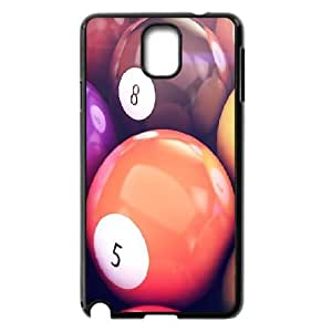 Bloomingbluerose Vintage Pool Balls Case for Samsung Galaxy Note 3 Protective Cute, Samsung Galaxy Note 3 Cases for Guys Design with Black