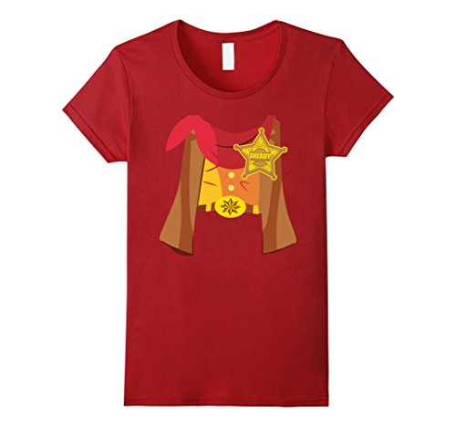 [Women's Funny I Love Cowboy Shirt Gifts Sheriff Costume Boys Girls Small Cranberry] (Sheriff Costume Women)