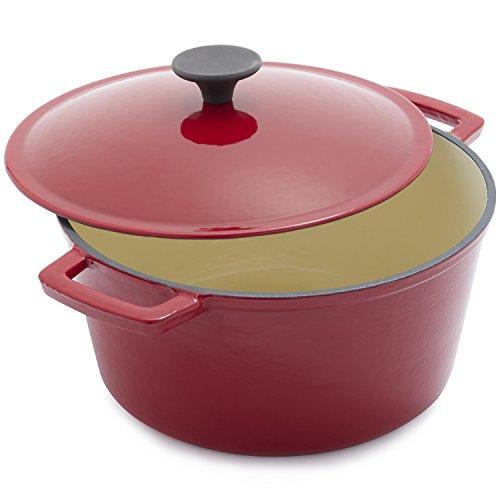 Sur La Table Red Lightweight Cast Iron Dutch Oven 25318 , 5 qt. (La Oven Sur Table)