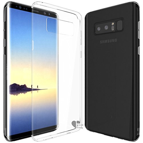 Note 8 Case,Love Ying [Crystal Clear] Ultra[Slim Thin][Anti-Scratches]Flexible TPU Gel Rubber Soft Skin Silicone Protective Case Cover for Samsung Galaxy Note 8-Clear - Tpu Rubber Protective Case
