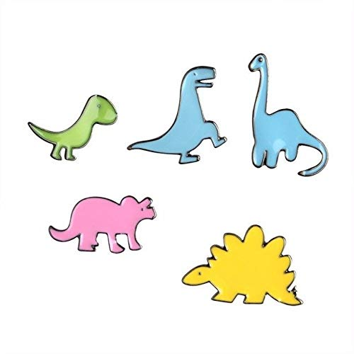 Price comparison product image - Cartoon Icon Pin Badge Shipping Backpack Clothing Dinosaur Metal - Home & Garden Online Shopping Beauty & Phone & Accessory Toy & Sport Fashion Wedding & Event Computer - 1PCs
