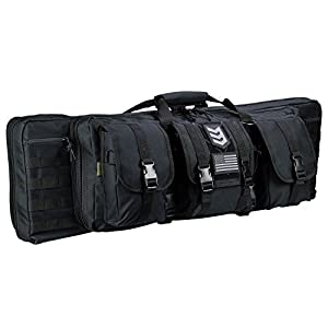 Ranger Double Rifle Case – Padded Long Gun Case & Rifle Storage Backpack With MOLLE Pouches, Integrated Pistol Cases and Magazine Storage