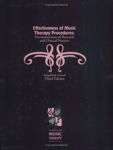 Effectiveness of Music Therapy Procedures: Documentation of Research and Clinical Practice