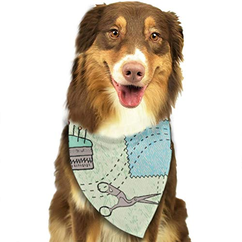 ROCKSKY Vintage Sewing Dog Bandanas Pet Scarf Cute Puppy and Pet Birthday Bandana Scarves, Triangle Headchief for Party, Wedding, Kids Baby Girl Boy Dog -
