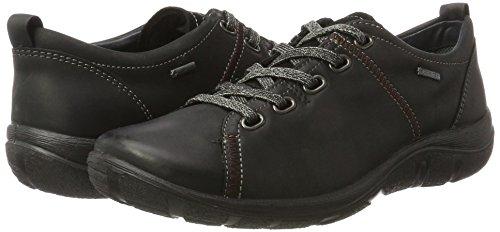Legero Para Derby Milano schwarz Cordones Zapatos 00 Mujer De Negro pqpfrw