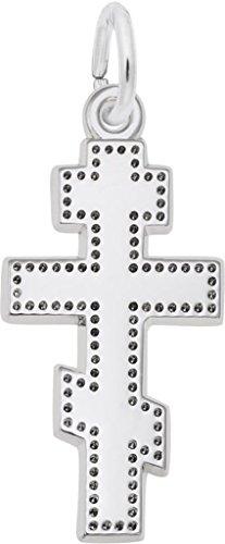 Rembrandt Greek Cross Charm - Metal - Sterling Silver (Rembrandt Cross Charm)