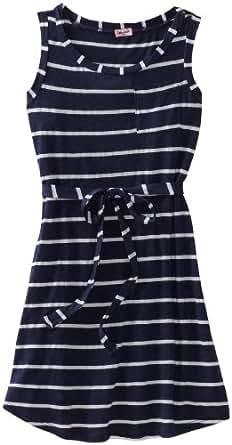 Splendid Big Girls' Venice Stripe Dress and Camisole, Denim, 7/8