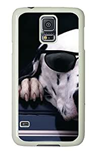 Samsung Galaxy S5 slim covers Funny Dogs PC White Custom Samsung Galaxy S5 Case Cover