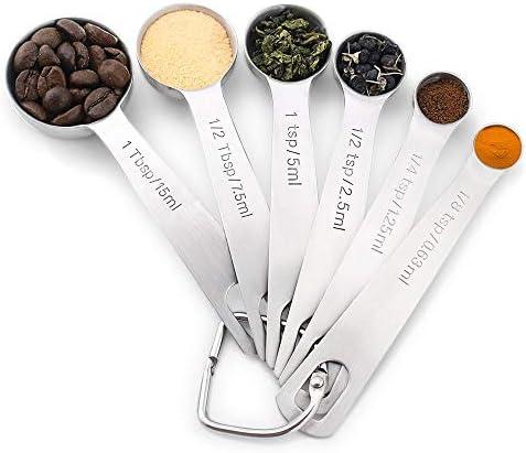 Measuring Spoons,Premium Heavy Duty 18//8 Stainless Steel Measuring Spoons Cups