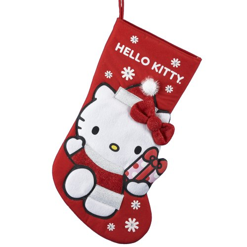 Kurt Adler Hello Kitty Applique Stocking