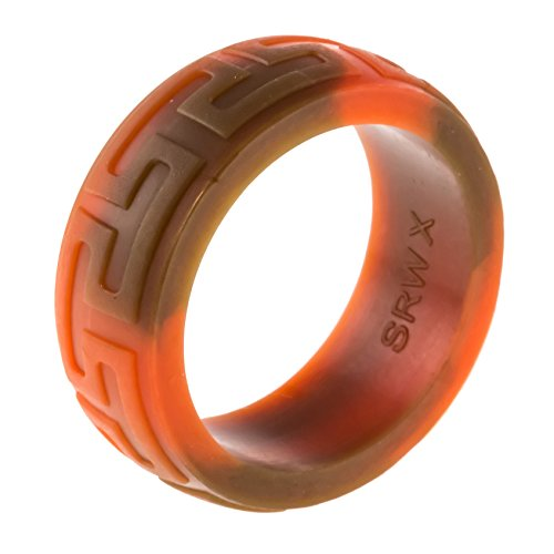 Heavy Duty Silicone Wedding Ring THICKEST & STRONGEST Wedding Bands w/Unique Designs- for our Toughest Customers- Easy Exchanges