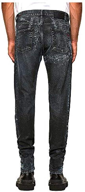 Diesel Męskie D-STRUKT L.32 Pantaloni Jeans, 01 Blue Denim, 33: Odzież