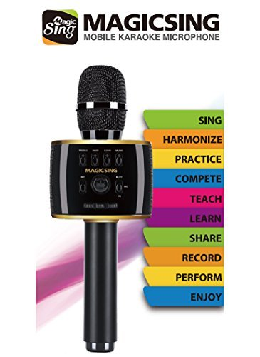 MagicSing MP30 · New 2018 Model · All-In-One Portable Smartphone Karaoke · 220,000 English & International -