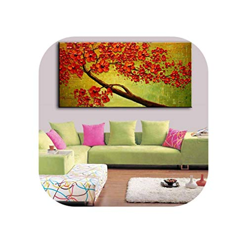 New Handmade Modern Canvas On Oil Painting Palette Knife Tree 3D Flowers Paintings Home Living Room Decor Wall Art 168022,70Cmx140Cm,168035