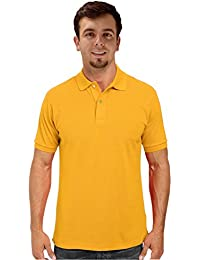 Peach Couture Mens Short Sleeve Classic Pique Polo Shirt