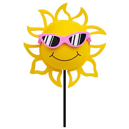 Blue Sunglasses Coolballs California Sunshine w Sunglasses Car Antenna Topper//Rear View Mirror Dangler//Desktop Spring Stand